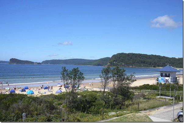 Umina beach from the deck of the SLSC