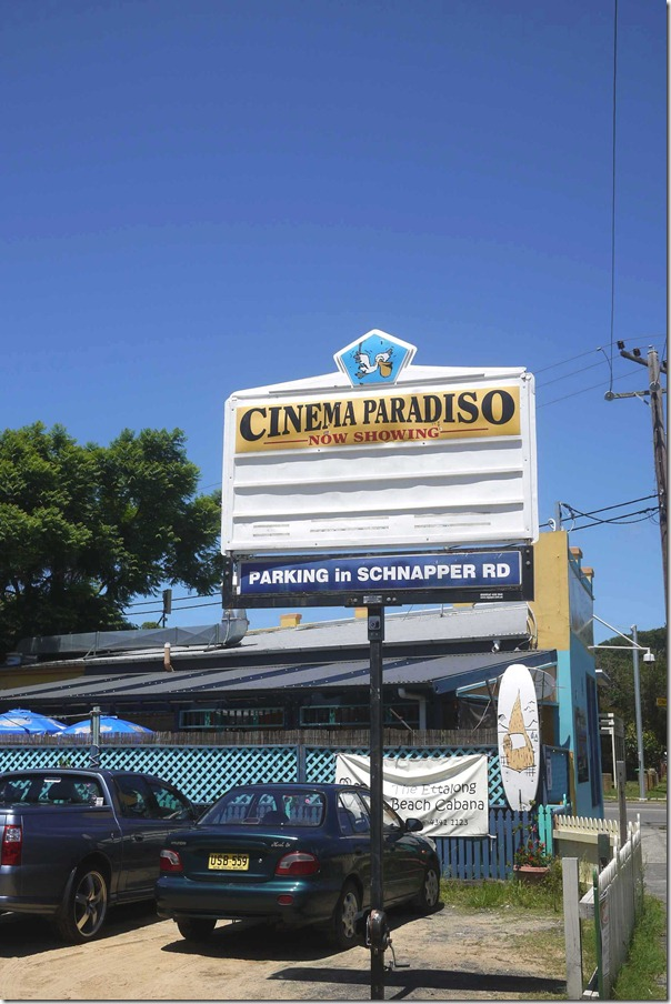 Local cinema showing Cinema Paradiso