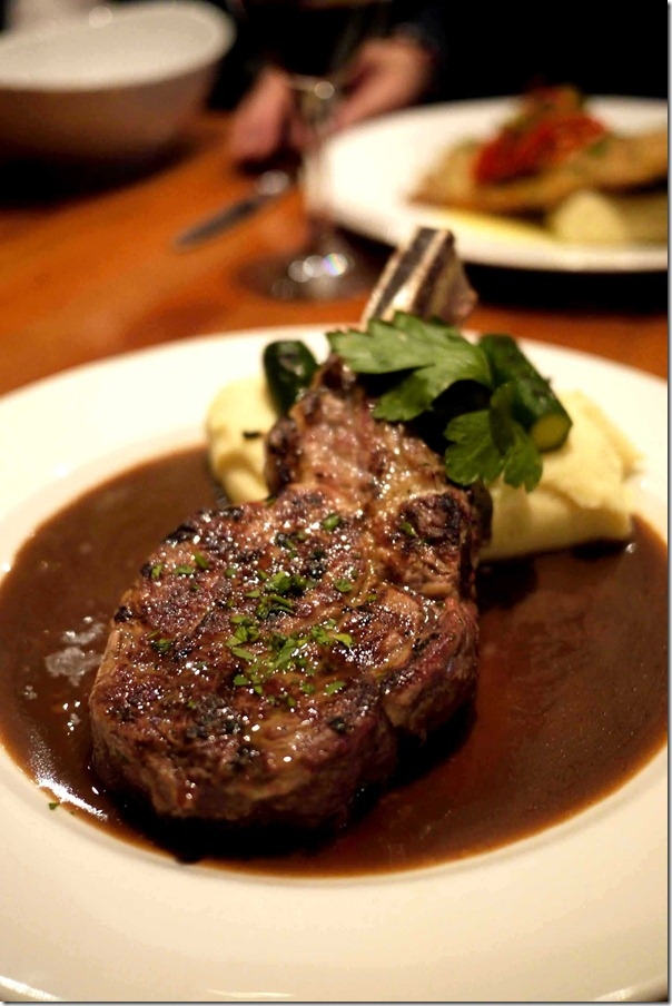 Bistecca del Giorno ~ Steak of the day: Ribeye on the bone with truffle mash