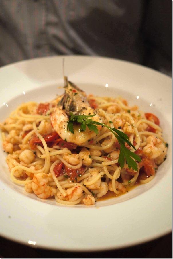 Special seafood spaghetti $28