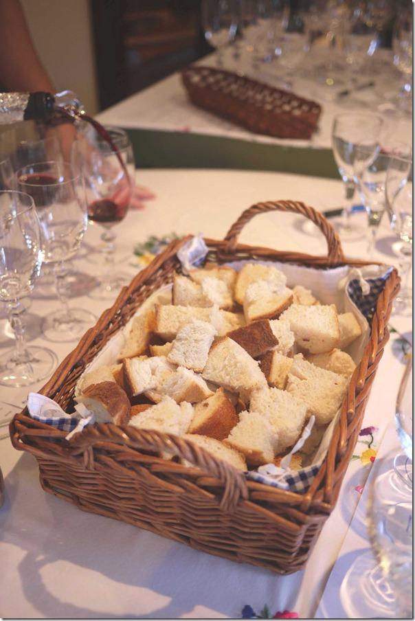 Fresh bread to accompany wine tasting