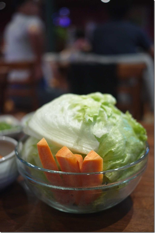 Fresh iceberg lettuce and carrots