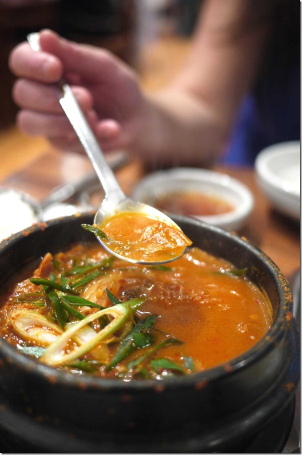 Spicy Korean hot pot $18