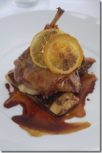 Crispy duck with orange marmalade