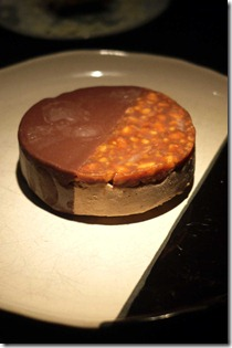 Peanut and caramelised chocolate parfait