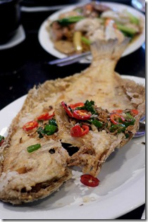 Salt and pepper flounder