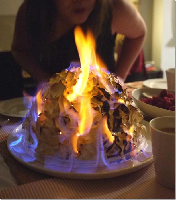 Iconic 1970's dessert: Bombe Alaska