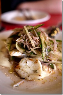 Grilled cuttlefish salad