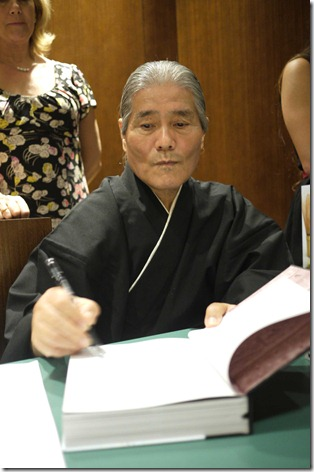 Hideo Dekura, at his book launch and signing