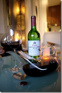 Opening and decanting wine