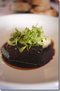 Daub of Cape Grim short-rib of beef with truffle mashed potato