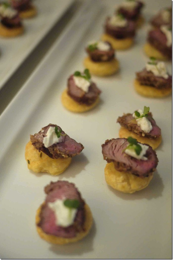 Lamb on puff pastry