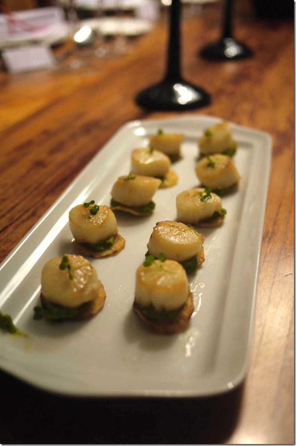 Scallop potato frittes