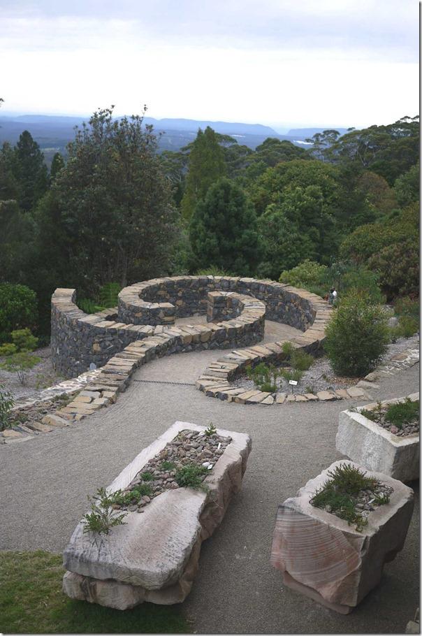 Spiral path, Mount Tomah Botanic Garden