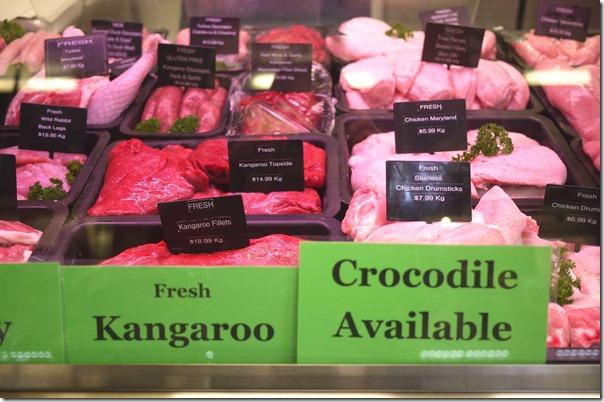 Fresh kangaroo and chicken