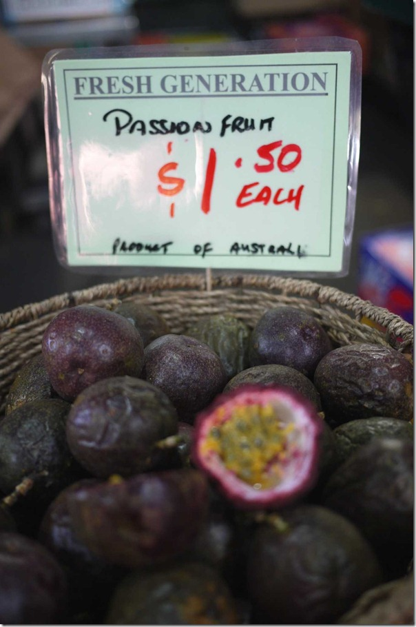 Passion fruit, Queen Victoria Market