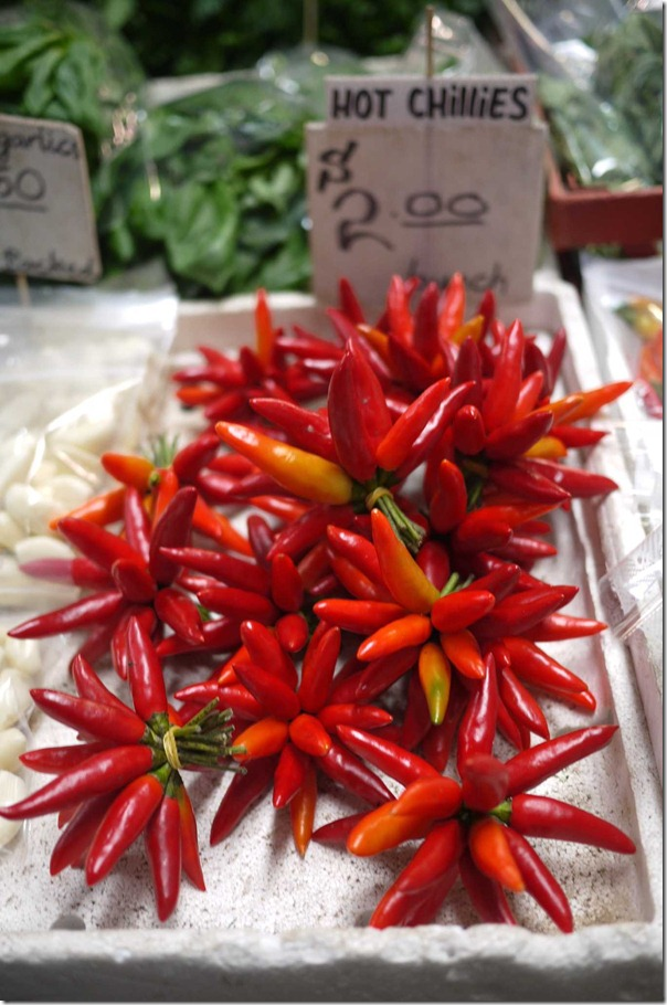 Birdeye chillies, Queen Victoria Market