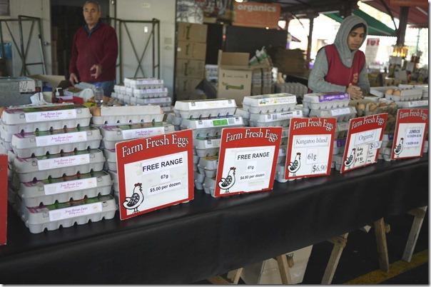 Free range eggs, Queen Victoria Market