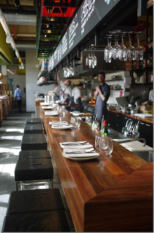 Dining at the bar, Movida Aqui, Melbourne