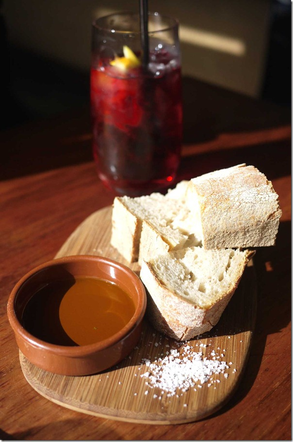 Bread, EVOO and salt