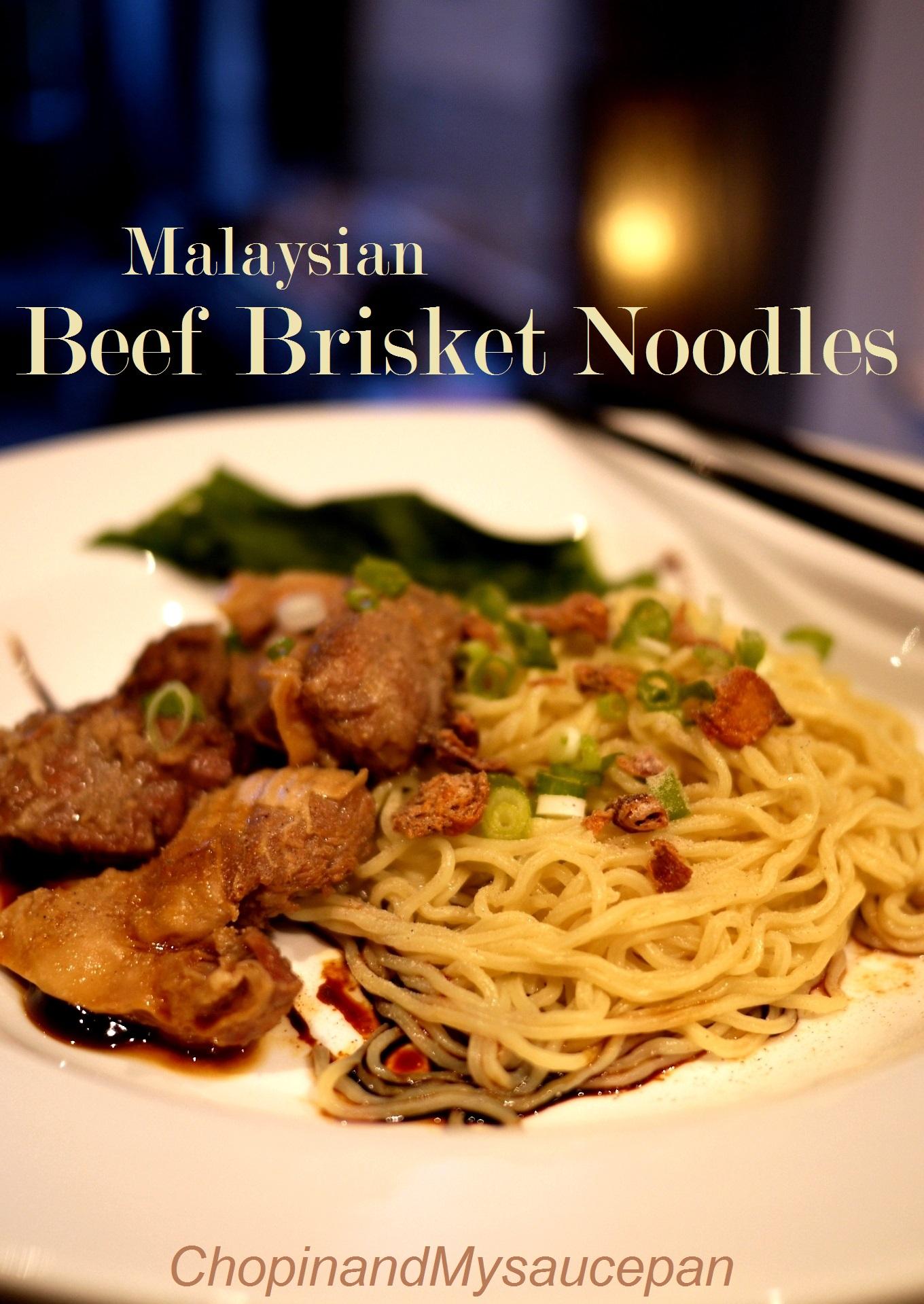 Malaysian beef brisket noodles