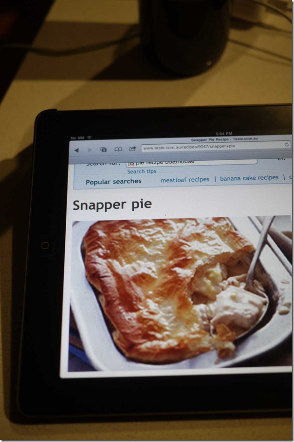 Snapper pie recipe from Taste.com.au