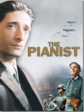 Adrien Brody wins an Oscar playing Wladyslaw Szpilman in The Pianist