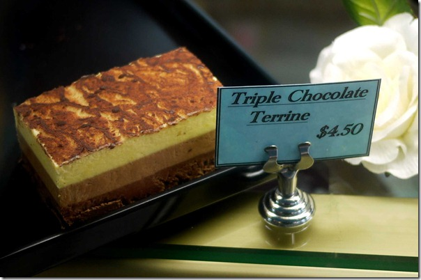 Triple chocolate terrine $4.50