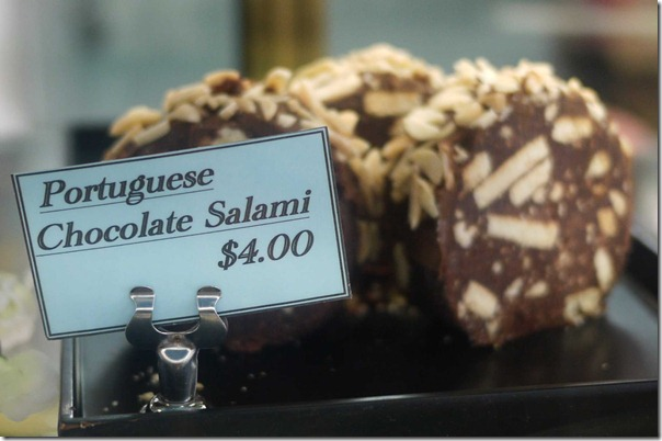 Portuguese chocolate salami $4.00