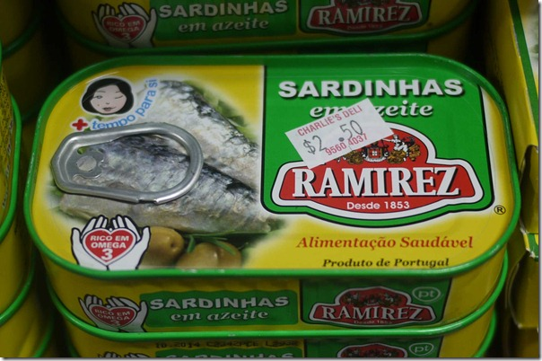 Imported sardines from Portugal