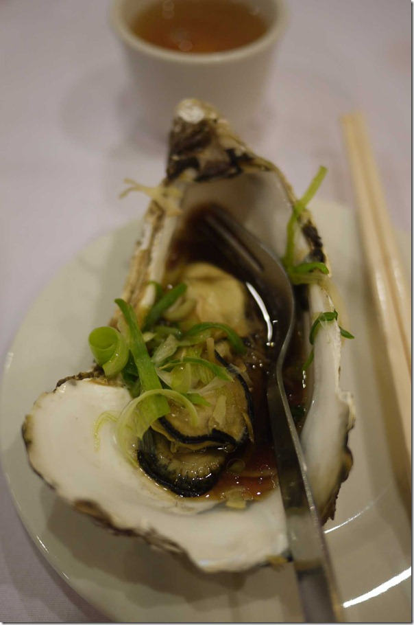 Steamed oyster with ginger, shallots and special soy sauce