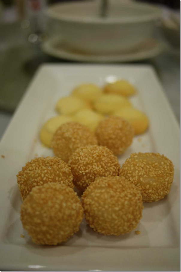 Chinese dessert Sesame balls and Chinese cookies