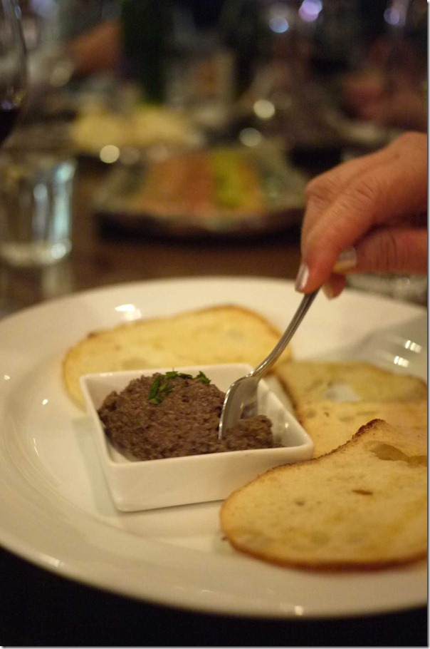 Chicken liver pate with crispy croutons