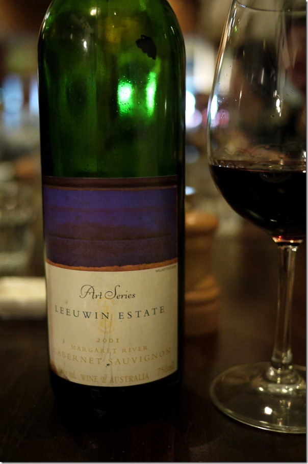 2001 Leeuwin Estate Cabernet Sauvignon Art Series from Margaret River, Western Australia
