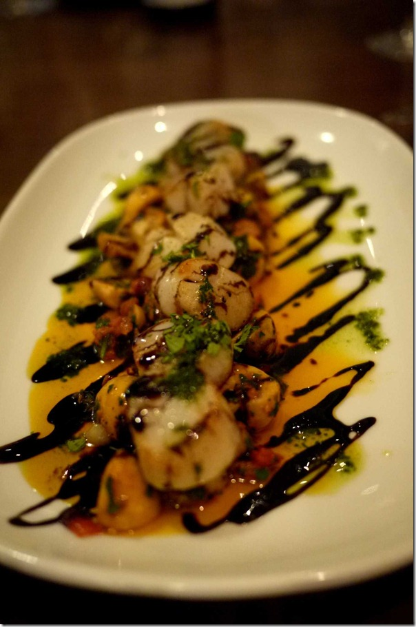 Special scallops with balsamic and pesto $36