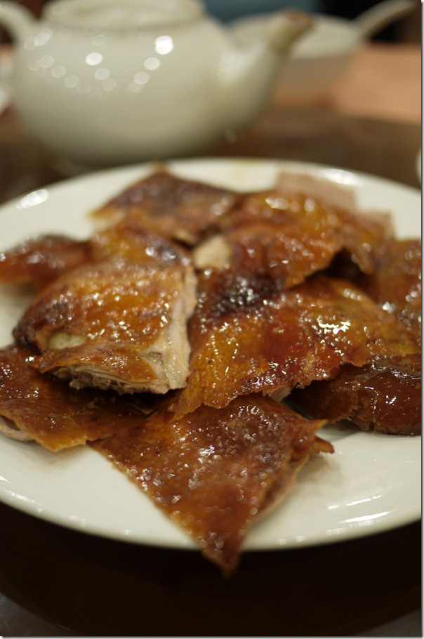 Crispy and succulent: Peking duck