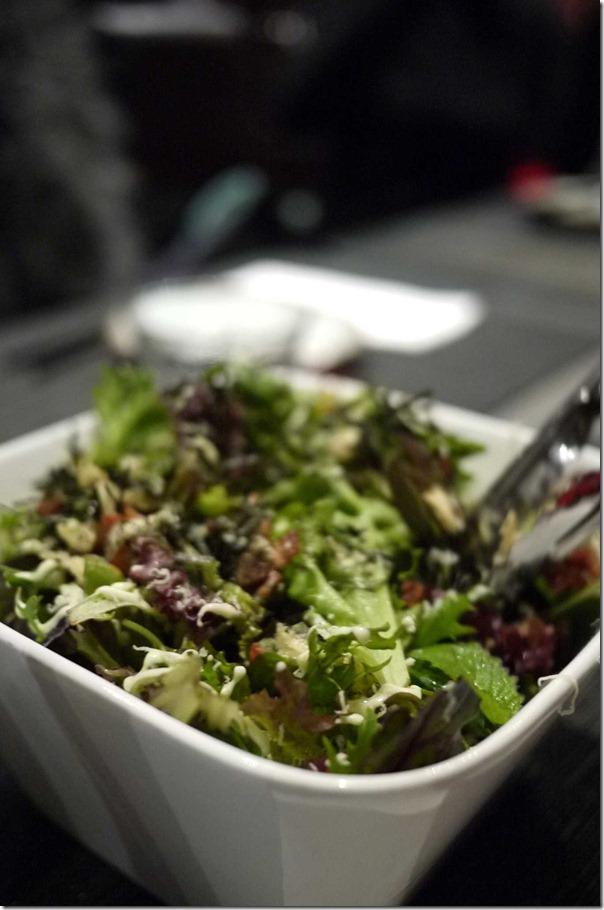 Caesar salad with wasabi mayonnaise
