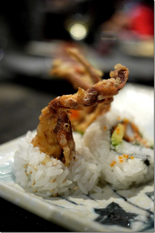 Soft shell crab roll $9