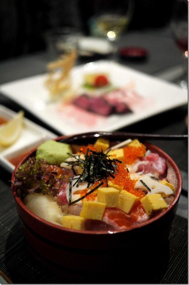 Chirashi sushi for 2 people $27.50