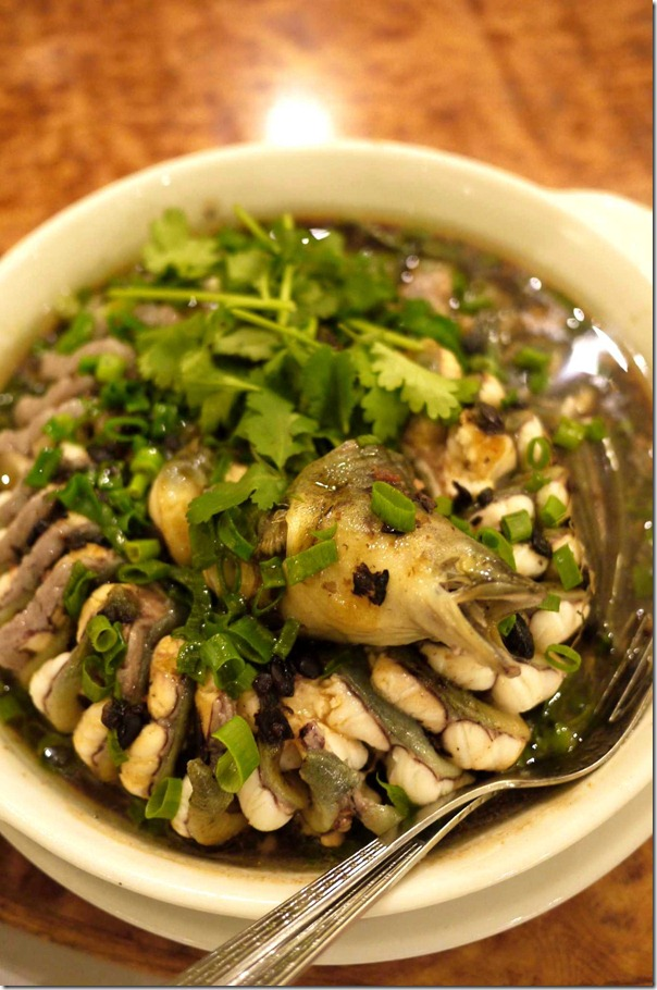 Steamed eel with black bean and soy sauce
