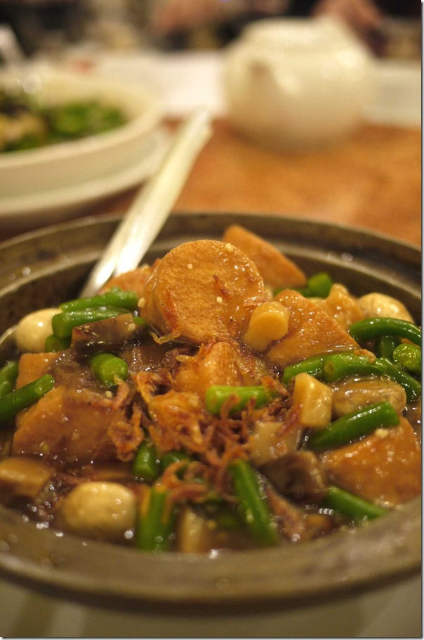 Silken tofu hot pot