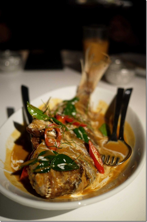 Bpla Raadt Prik: Crisp whole snapper in roasted chilli and garlic sauce $35