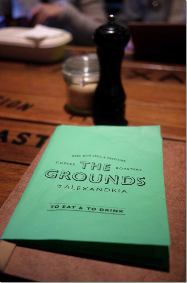 The menu - The Grounds of Alexandria