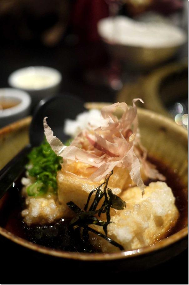 Agedashi tofu $6.80