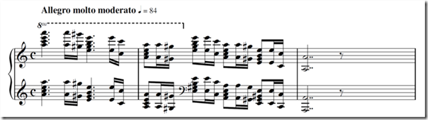 The opening piano introduction of Grieg's piano concerto in A minor Op. 16