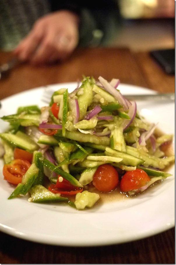 Cucumber salad $5