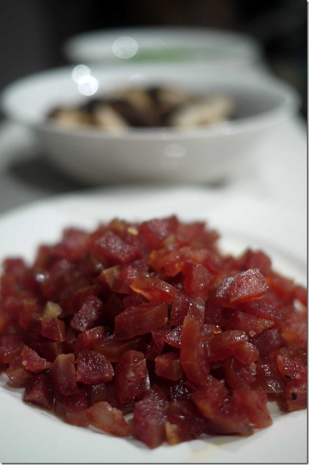 Diced chinese sausage
