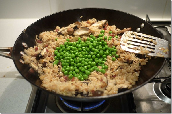 Add green peas