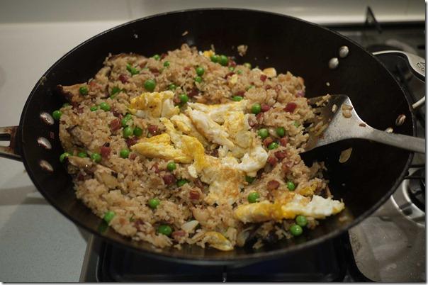 Add egg omelette