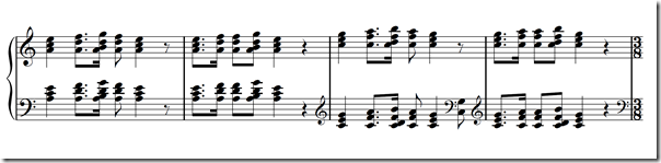 The iconic main motive  in the first movement of Grieg's piano concerto in A minor Op. 16